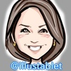 iPadproで描いた NHK鈴木奈穂子さんの似顔絵と似顔絵が出来上がるまで。