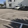お正月は、駐車場の線引き