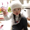 雪だるま帽子(3歳4ヶ月)