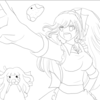 【描き方講座】ダンガンロンパ3雪染先生イラストを描いてみた【塗り編】