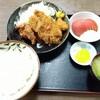 西川口の「あおき食堂」でチキンカツとからあげ定食を食べました★
