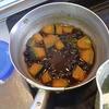 幸運な病のレシピ( 373 )朝:母の好きだった庭の春、みそ汁、リヨー(豚ばら肉の脂煮)、カボチャと黒豆