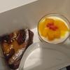 マンゴープリンと赤桃のタルト