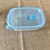 保存容器からガラス+みつろうエコラップ保存に