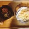 豆乳鍋、海老、かぼちゃ天ぷら