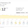 サンフランシスコ1月の天気