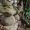 寺院にまつられる古い五輪塔群 福岡県北九州市若松区中畑町