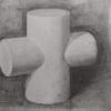 円柱とクロッキー 絵画教室にて