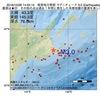 2016年10月26日 14時55分 根室地方南部でM3.0の地震