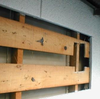 外壁切り抜き窓、取り付け1-2(ランマのアルミサッシ)