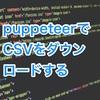 puppeteerでクリックしてCSVをダウンロードする