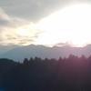 夕空と御嶽山(御岳山)・2020年10月03日①