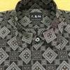 大島紬のオープンシャツ