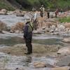 ヤマメ特別漁区の賑わい