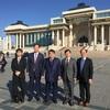 モンゴル外務省。国立博物館。モンゴル国立大学。北東アジア協会。モンゴル主催の交流パーティ。