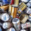 散歩:アルミ用コンテナに混在するスチール缶