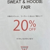 ♡SWEAT & HOODIE 20%OFF♡HIROSHIMA PARCO