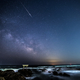 大洗磯前神社での天の川撮影と流れ星
