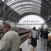 フランクフルト中央駅で
