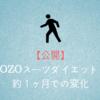 【公開】ZOZOスーツダイエット!約1ヶ月での変化