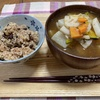玄米生活第3週15日目 玄米150g と味噌汁
