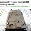 Returns from 12th ISS resupply mission