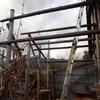 屋根を架けて 以前の住人も Attaching the roofs