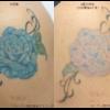 青いバラのカラータトゥー