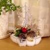 クリスマスデコレーションはセリアや有り物で。シンプルで最小限ですが、季節を感じるには十分です。