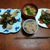 幸運な病のレシピ( 2416 )朝:糠漬け、ソーセージとピーマン、焼き魚、味噌汁
