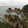 鳥取3 浦富海岸で遊覧船