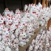 招き猫と紅葉の豪徳寺