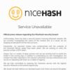 NiceHashでビットコインの盗難発生