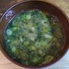 煮干納豆ネギ味噌汁 煮干し多め