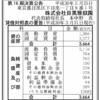 株式会社目黒雅叙園 第16期決算公告