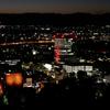 もう二度と見られないかもしれない赤ライトアップの岐阜市役所。