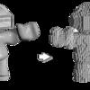 3Dオブジェクト(ボクセルデータ)を描画するツールを作った