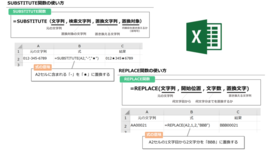 【Excel】「大量のデータを修正したい」 そんなときはSUBSTITUTE関数とREPLACE関数で時短しよう