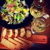 アサリと春キャベツとワイン!