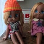 可愛い日焼けのお人形