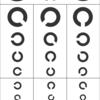 【ミニチュア素材】視力検査表