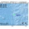 2016年08月26日 02時04分 鳥島近海でM6.8の地震
