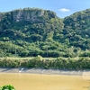 立田神地区の貯水池と沈砂池(沖縄県与那国島)