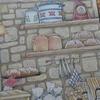 4】クーピーで石壁の塗り方紹介です☆憧れのお店屋さん(パン屋さん店内続き)より