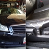 Y50型フーガの内装定番トラブル、運転席シート側面のビニールレザー破れ補修