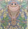 塗り絵 フクロウのページ 完成