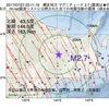 2017年07月27日 03時11分 網走地方でM2.7の地震