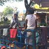 マハバンドゥーラ・ガーデン横の屋台街@Yangon