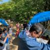 今日は晴天の中の芋煮会!