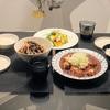 【ある日の晩御飯】麻婆豆腐ときんぴらに旬の果物を使った和え物